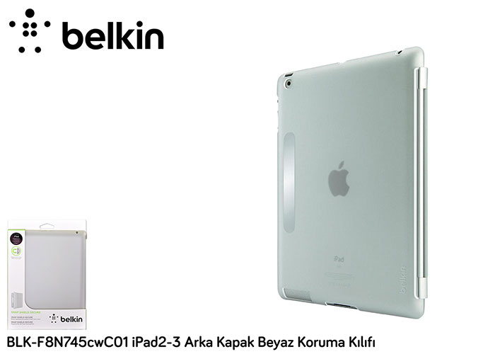 Belkin BLK-F8N745cwC01 iPad2-3 Back Cover White Protection Case