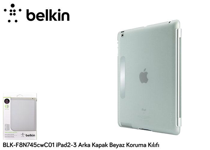 Belkin BLK-F8N745cwC01 iPad2-3 Arka Kapak Beyaz Koruma Kılıfı
