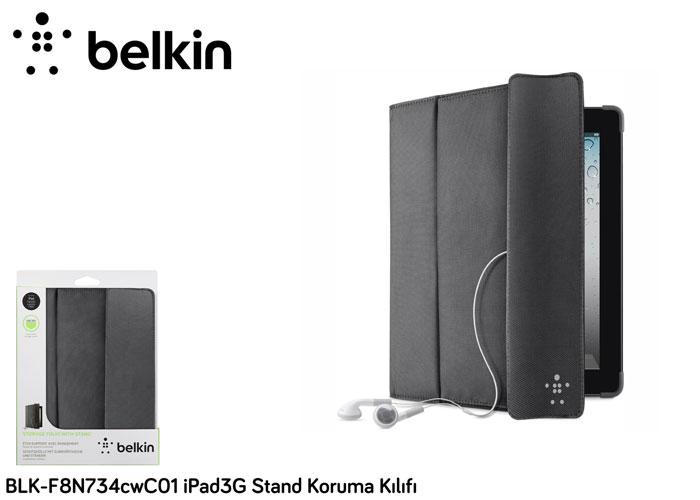 Belkin BLK-F8N747cwC00 iPad3 Kapak/Stand Katlama Siyah Koruma Kılıfı
