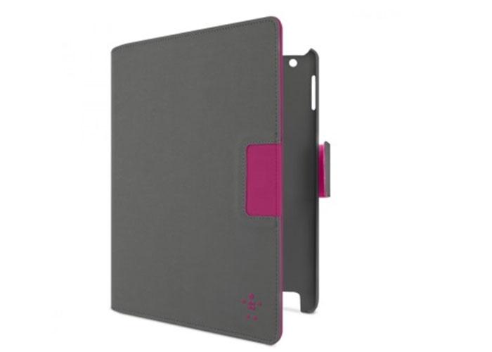 Belkin BLK-F8N754cwC00 Cinema Swivel Folio-Autowake iPad 3 Gri/Pembe Stand / Koruma Kılıfı