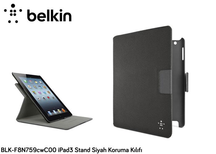 Belkin BLK-F8N759cwC00 iPad3 Stand Siyah Koruma Kılıfı