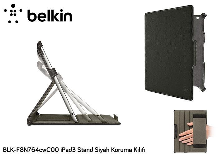Belkin BLK-F8N764cwC00 iPad3 Stand Siyah Koruma Kılıfı