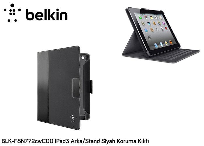 Belkin BLK-F8N772cwC00 iPad3 Arka/Stand Siyah Koruma Kılıfı