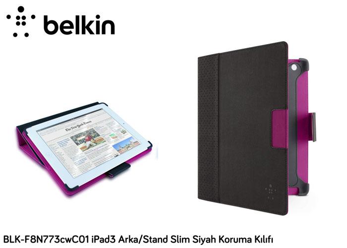 Belkin BLK-F8N773cwC01 iPad3 Arka/Stand Slim Siyah Koruma Kılıfı