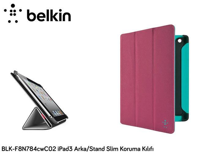 Belkin BLK-F8N784cwC02 iPad3 Arka/Stand Slim Koruma Kılıfı