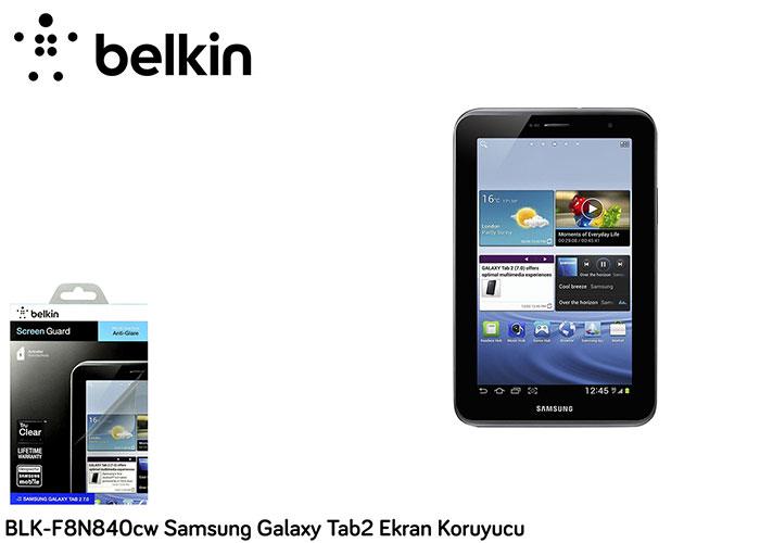 Belkin BLK-F8N840cw Samsung Galaxy Tab2 Ekran Koruyucu