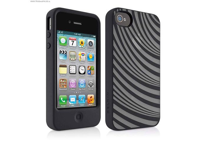 Belkin BLK-F8W033cwC03 Desenli iPhone 4 Arka Kapak Koruma Kılıfı