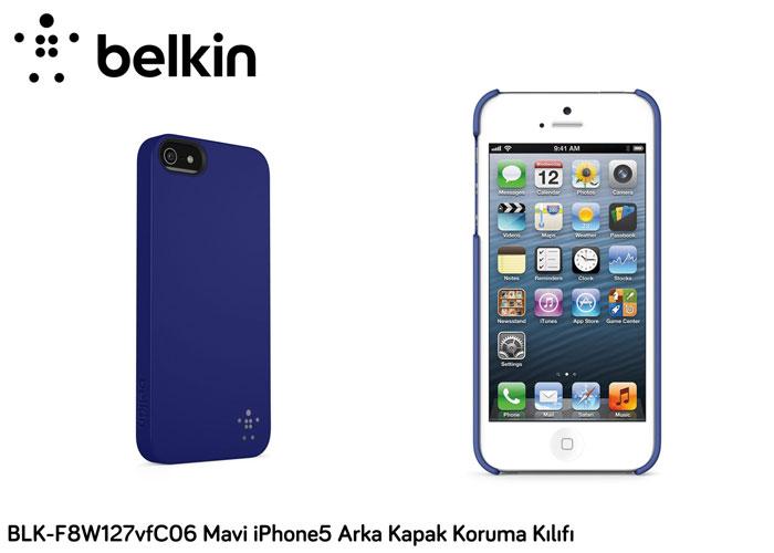 Belkin BLK-F8W127vfC06 Mavi iPhone5 Arka Kapak Koruma Kılıfı