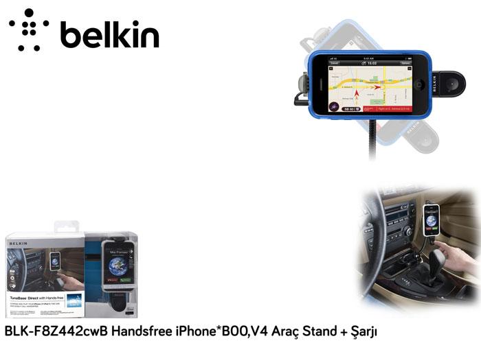 Belkin BLK-F8Z442cwB Handsfree iPhone*B00,V4 Araç Stand + Şarjı