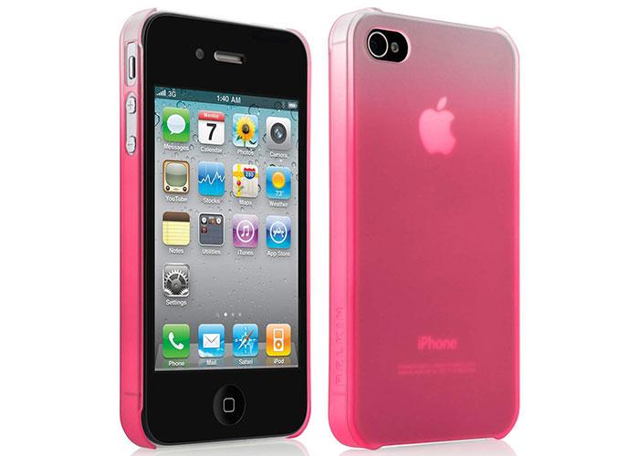Belkin BLK-F8Z892cwC00 Mor iPhone4 Arka Kapak