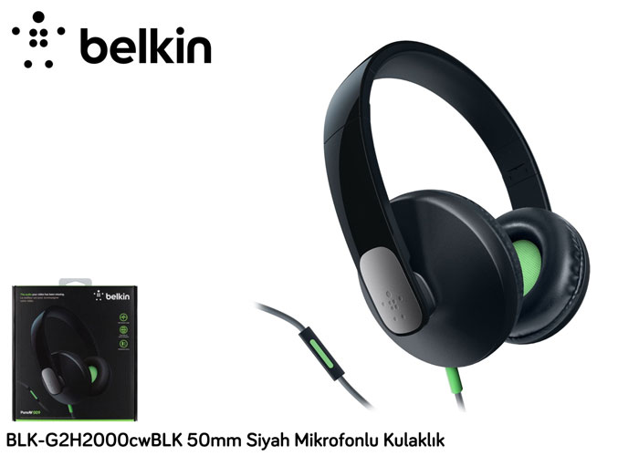 Belkin BLK-G2H2000cwBLK 50mm Siyah Mikrofonlu Kulaklık