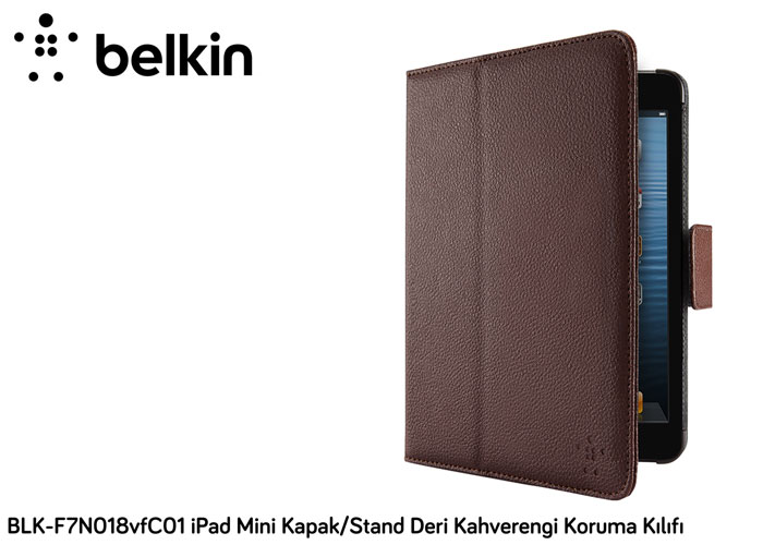 Belkin BLK-F7N018vfC01 iPad Mini Cover / Stand Leather Brown Protection Case Cover