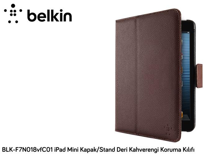 Belkin BLK-F7N018vfC01 iPad Mini Kapak/Stand Deri Kahverengi Koruma Kılıfı