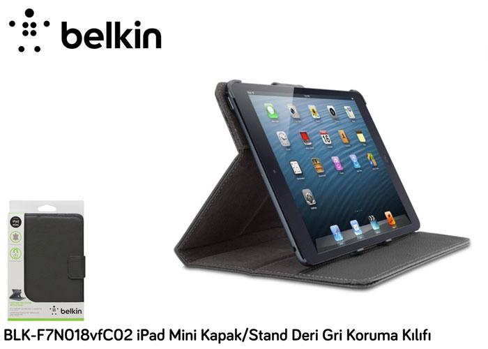 Belkin BLK-F7N018vfC02 iPad Mini Kapak/Stand Deri Gri Koruma Kılıfı