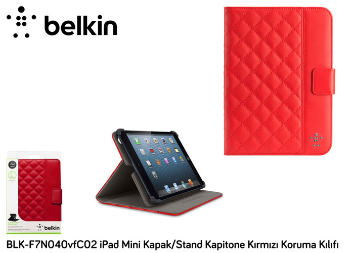 Belkin BLK-F7N040vfC02 iPad Mini Cover / Stand Quilted Red Protection Case Cover