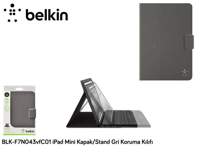 Belkin BLK-F7N043vfC01 iPad Mini Kapak/Stand Gri Koruma Kılıfı
