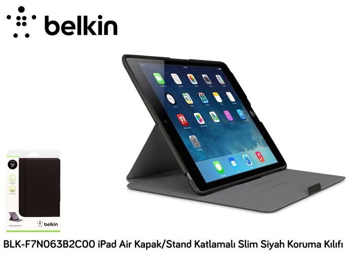 Belkin BLK-F7N063B2C00 Kapak/Stand Katlamalı Siyah iPad Air Koruma Kılıfı