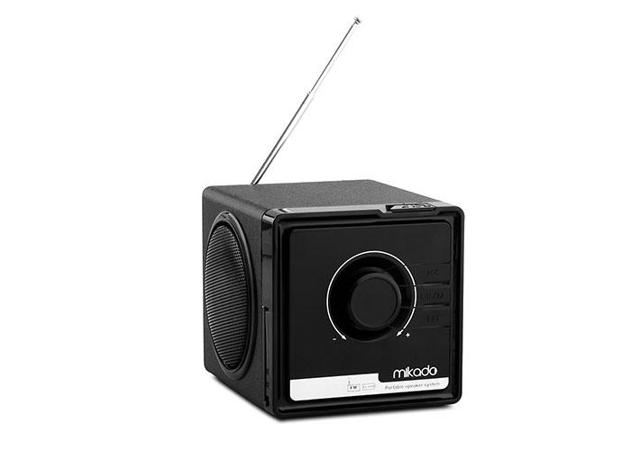 Mikado BT-236 3W+3W Siyah SD+MMC+Fm destekli Bluetooth Müzik Kutusu