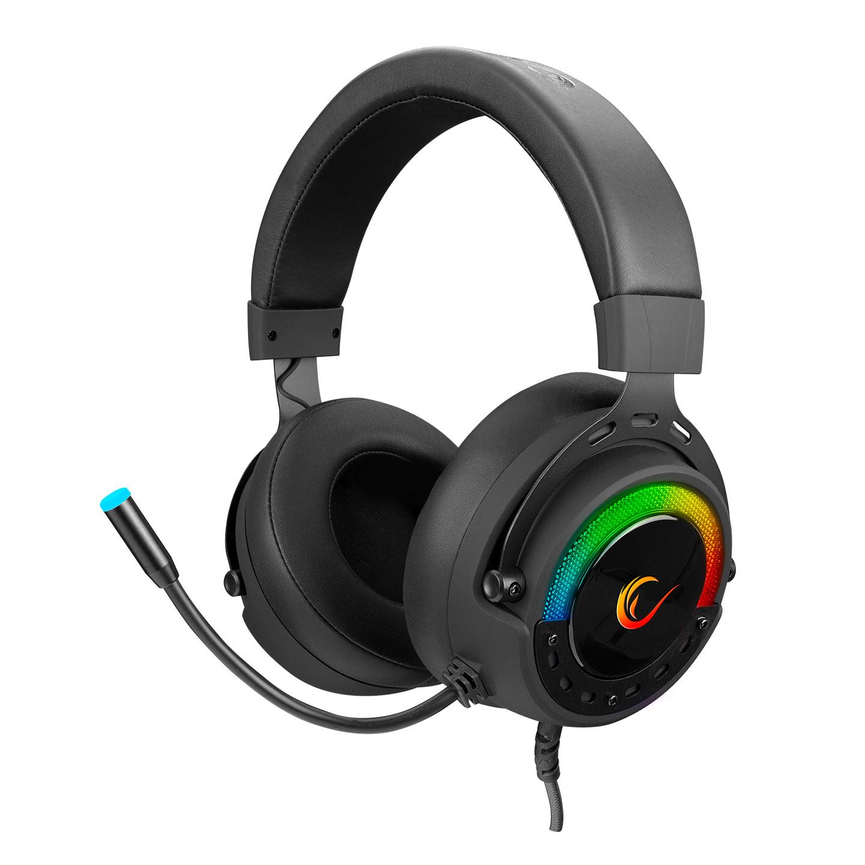Rampage BYGAME-X1 Siyah USB 7.1 Surround RGB Ledli Gaming Mikrofonlu Oyuncu Kulaklığı