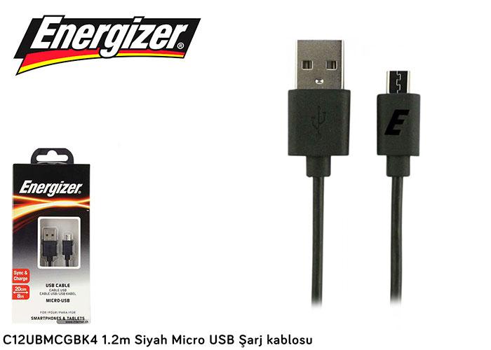 Energizer C12UBMCGBK4 1.2m Siyah Micro USB Şarj kablosu