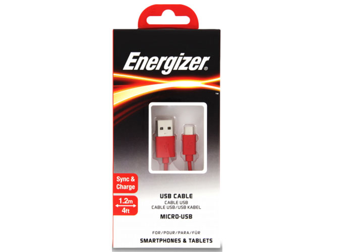Energizer C12UBMCGRD4 1.2m Flat Micro Kırmızı Usb Kablosu