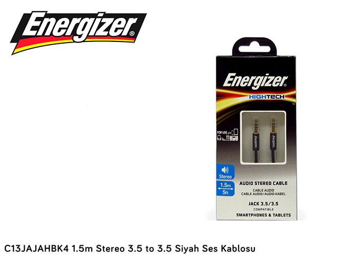 Energizer C13JAJAHBK4 1.5m Stereo 3.5 to 3.5 Siyah Ses Kablosu