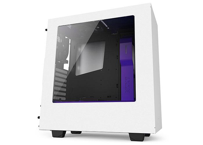 Nzxt CA-S340W-W3 White / Purple Mid Tower Case