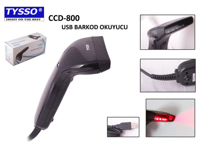 Tysso CCD-800-USB-B-SEG El Tipi Barkod Okuyucu