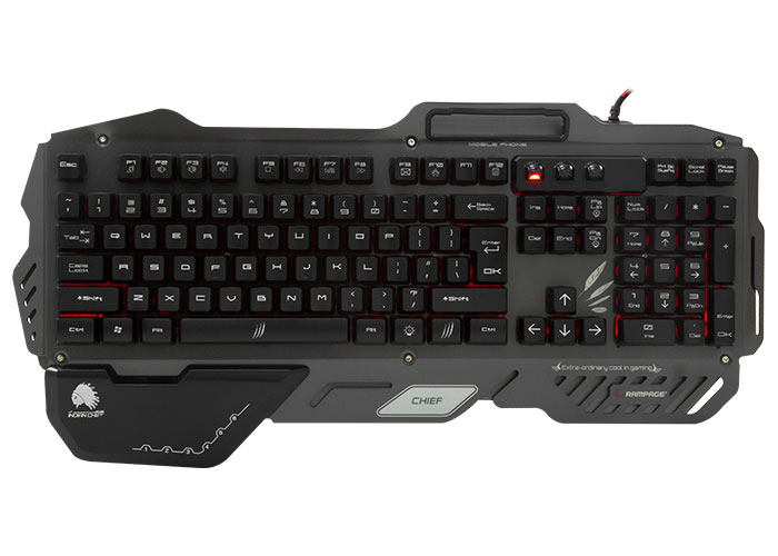 Rampage Chief Siyah USB Gaming US Layout Multimedia Klavye