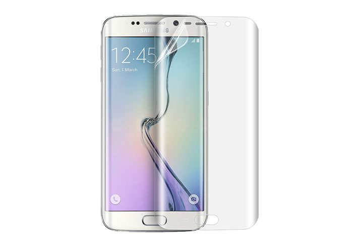 S-link CM-S6EDGE Beyaz Tempered Glass Samsung Galaxy S6 Edge Cam Ekran Koruyucu