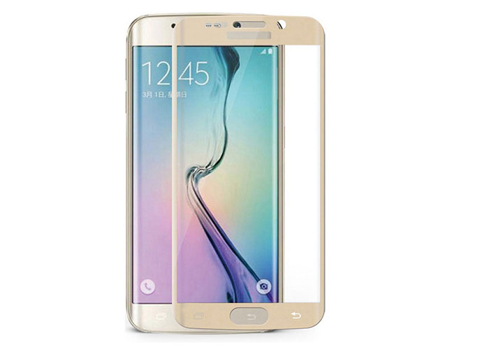 S-link CM-S6EDGE Gold Tempered Glass Samsung Galaxy S6 Edge Cam Ekran Koruyucu