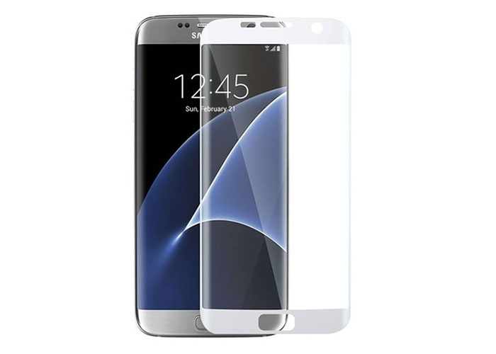 S-link CM-S7EDGE Beyaz Tempered Glass Samsung Galaxy S7 Edge Cam Ekran Koruyucu