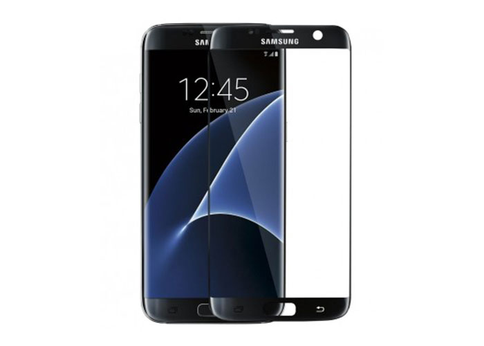 S-link CM-S7EDGE Siyah Tempered Glass Samsung Galaxy S7 Edge Cam Ekran Koruyucu