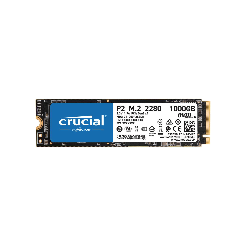Crucial CT1000P2SSD8 1TB P2 M.2 NVMe PCIe SSD PN