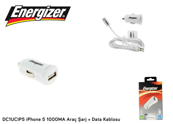 Energizer DC1UCIP5 iPhone 5 1000MA Araç Şarj + Data Kablosu