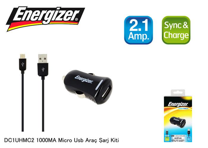 Energizer DC1UHMC2 Micro Usb 2100MA Araç Şarj Kiti