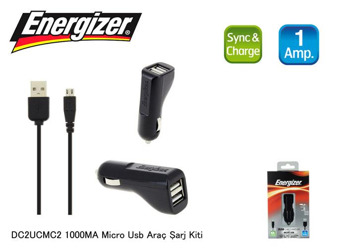 Energizer DC2UCMC2 1000MA Micro Usb Araç Şarj Kiti