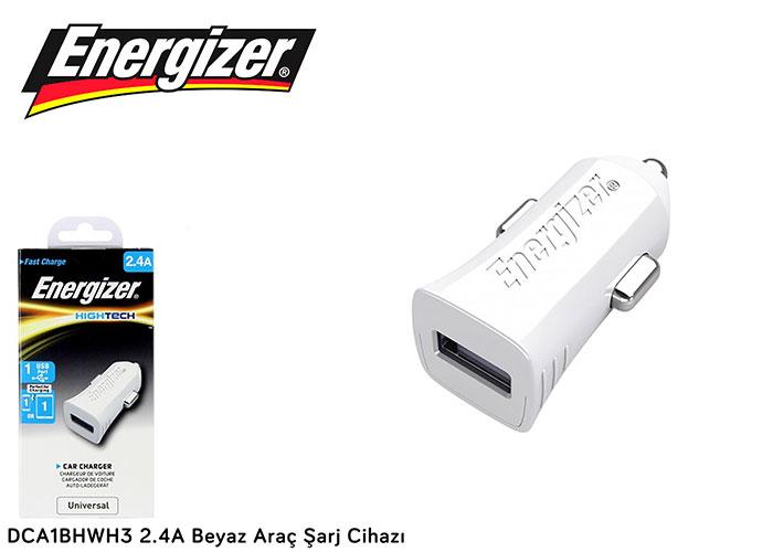 Energizer DCA1BHWH3 2.4A Beyaz Araç Şarj Cihazı