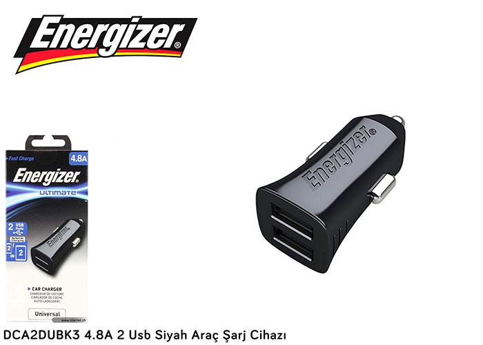 Energizer DCA2DUBK3 4.8A 2 Usb Siyah Araç Şarj Cihazı