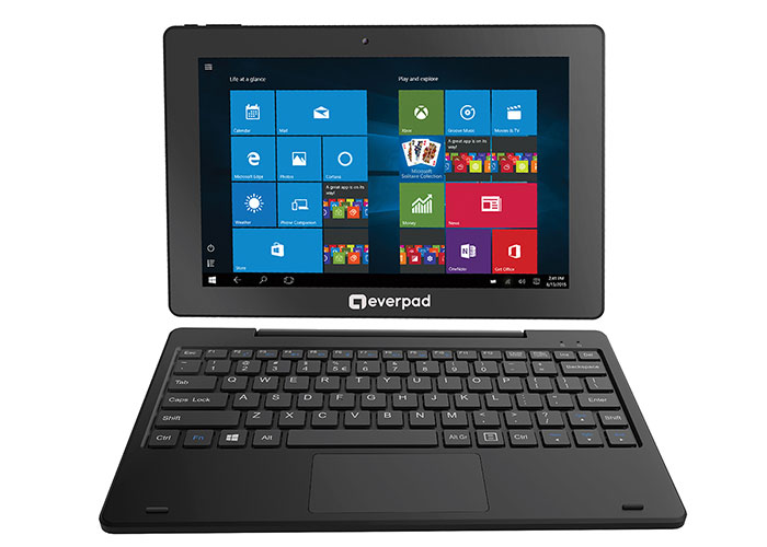 Everest EVERPAD DC-1101 Çift Kamera 2.0Mp 10.1 2GB Ram 32GB IPS Win10 KlavyeliTablet Pc