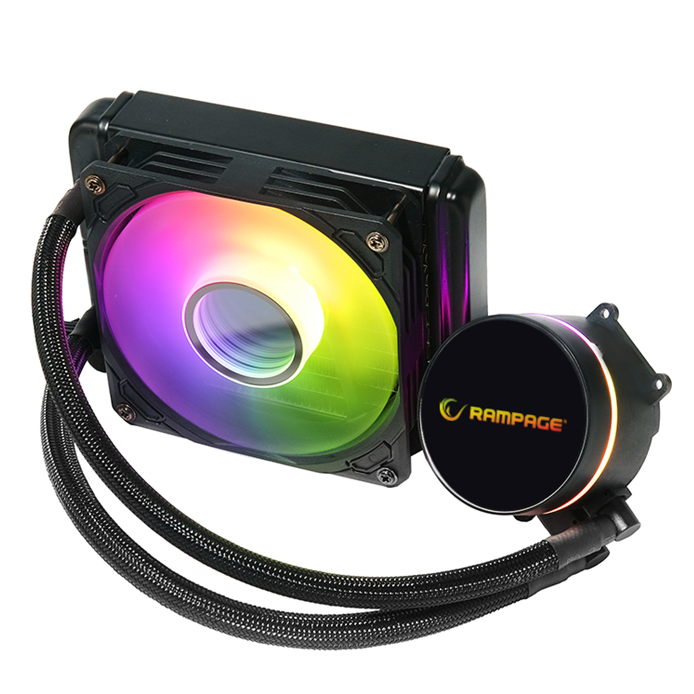 Rampage DEEPLIGHT-120 ARGB 1000/2000rpm 154x120x52mm Su Soğutmalı CPU Soğutucu