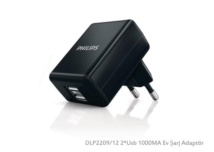 Philips DLP2209/12 Şarj Aleti 2*Usb 1000MA Ev Şarj Adaptör