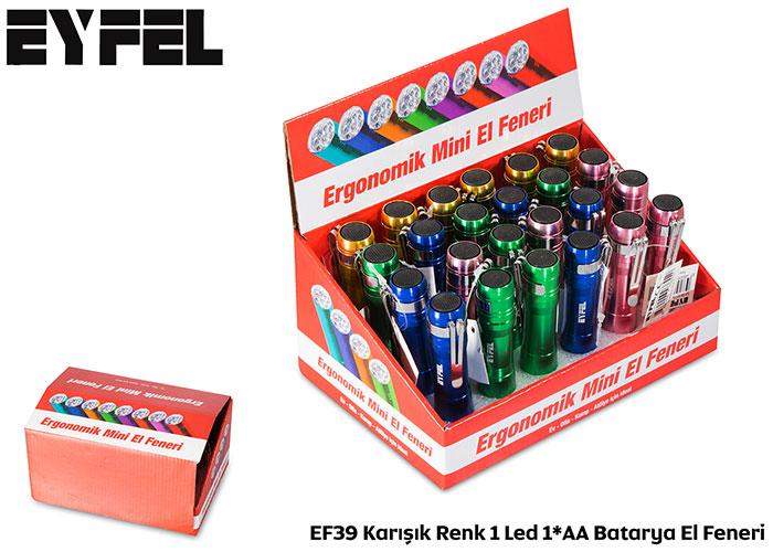 Eyfel EF39 Karışık Renk 1 Led 1*AA Batarya El Feneri