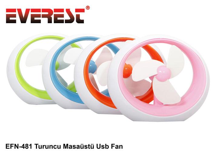 Everest EFN-481 4 Karışık Renkli Masaüstü Usb Fan
