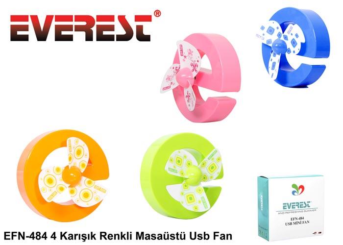 Everest EFN-484 4 Karışık Renkli Masaüstü Usb Fan