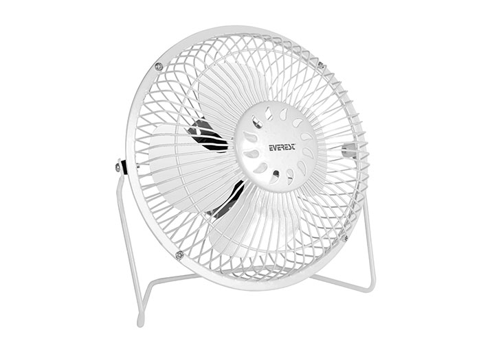 "Everest EFN-487 6"" Masaüstü Metal Beyaz Usb Fan"
