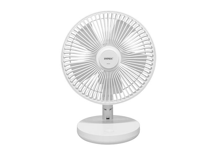 Everest EFN-521 Masaüstü Şarj Edilebilir Beyaz 1200mAh Usb Fan