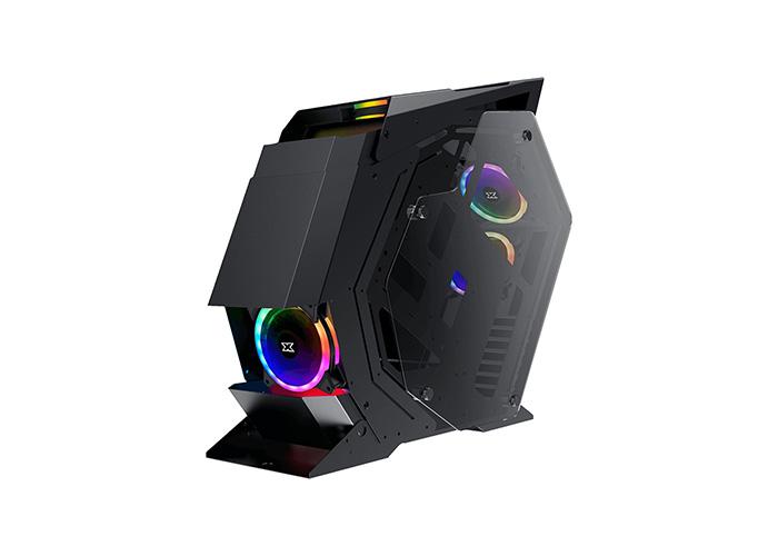 Xigmatek EN45198 PERSEUS 5PCS CY120 Fanlar ControlBox Siyah/Kırmızı Ön ,Sol ve Sağ Temperli Camlı Gaming Oyuncu Kasası