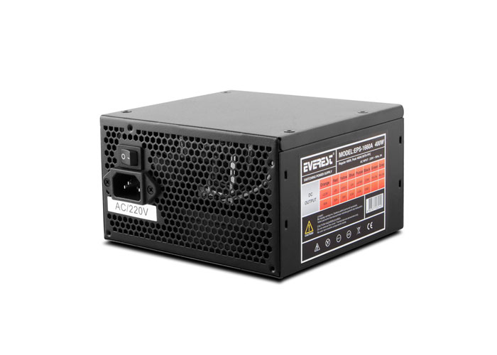 Everest EPS-1660A Peak 460W PFC 4*Sata, 2*6+2 PIN 12 CM FANLI Power Supply