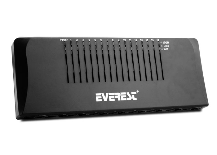 Everest ESW1016D 16 Port 10/100Mbps Switch Hub